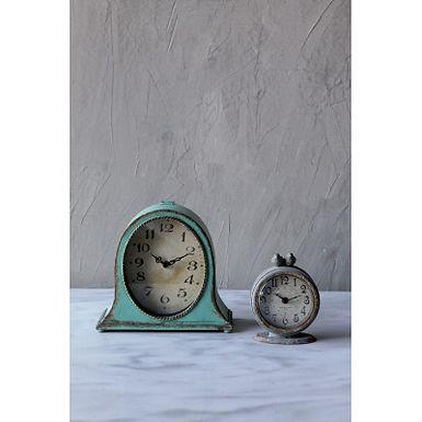 Grey Pewter Mantel Clock with Birds