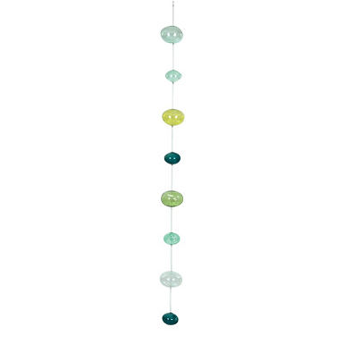 Hand Blown Bubble Glass Garland with Blues & Greens