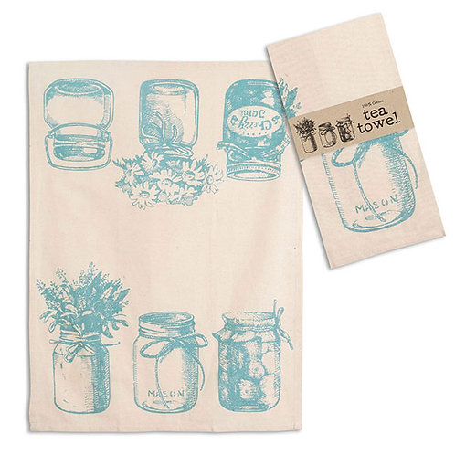Canning Jars Tea Towel - Box of 4