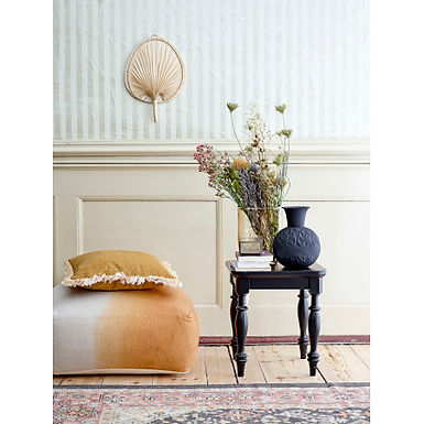 "10""H Embossed Metal Vase with Botanical Design & Matte Finish"
