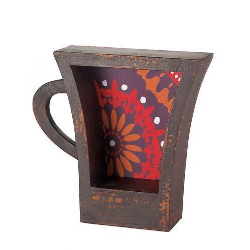 Dark Coffee Cup Shelf
