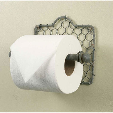 Chicken Wire Toilet Paper Holder - Box of 2