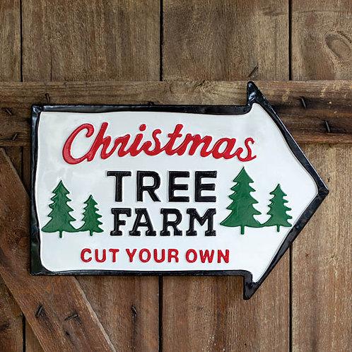 Christmas Tree Farm Wall Sign