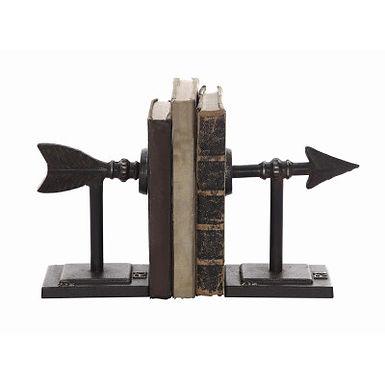 Bronze Arrow Shaped Cast Iron Bookends (Set of 2 Pieces)