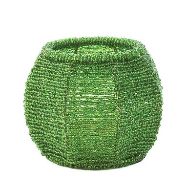 Emerald Green Beaded Candleholder