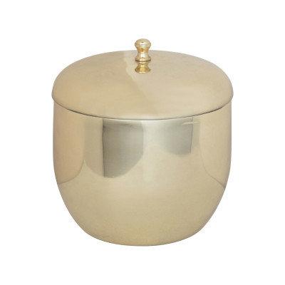 1 Quart Stainless Steel Ice Bucket, Brass Finish