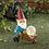Thumbnail: Gnome With Wheel Barrow Solar Statue