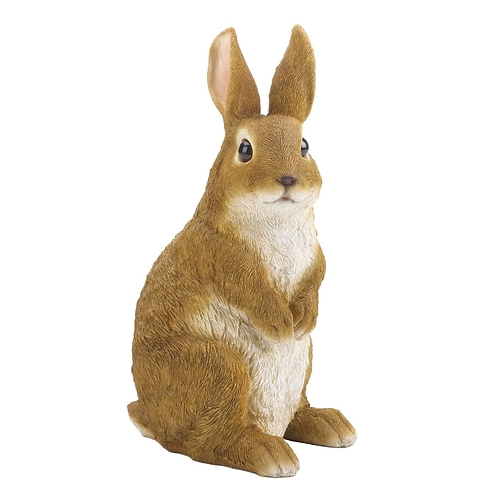 Curiously Cute Bunny Garden Figurine