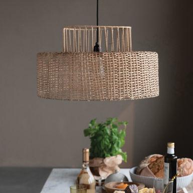 2-Tier Cane Ceiling Pendant Lamp Chandelier