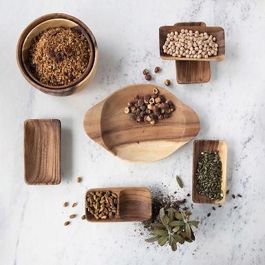 Acacia Wood Bowls, Set of 2