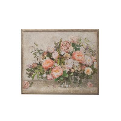 "37.25""W Flower Bouquet Wood Framed Wall Decor"
