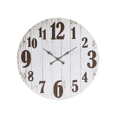 Black & White Wood & Metal Wall Clock