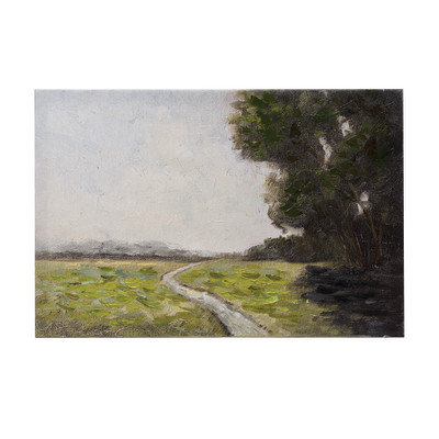 Hand-Painted Canvas Wall Decor with Landscape, 24 in. x 16 in.