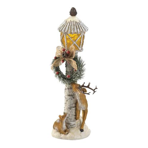 Light Post Reindeer Figurine