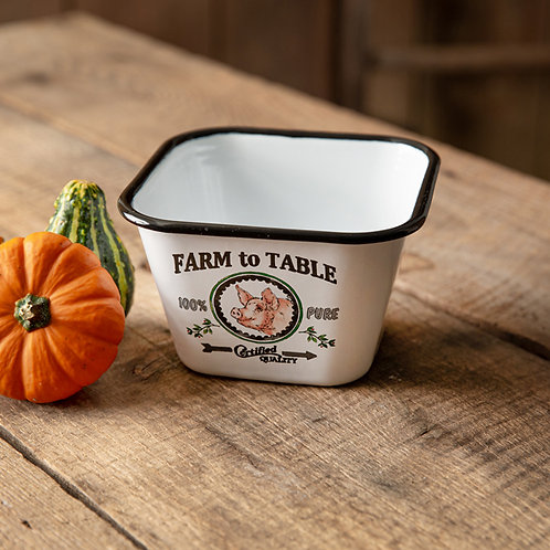 Farm to Table Square Bowl