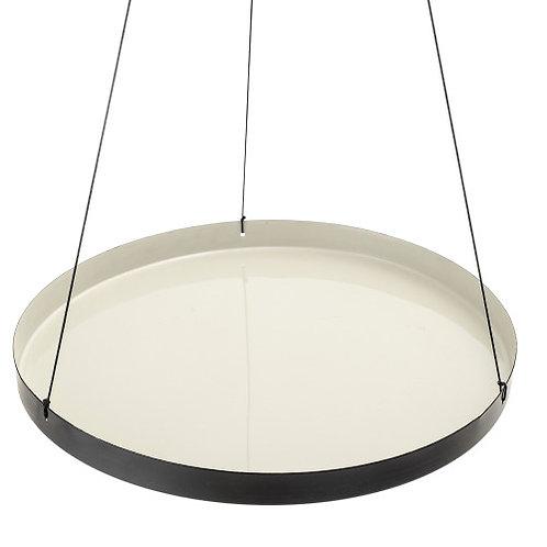 Grey Round Enameled Hanging Tray