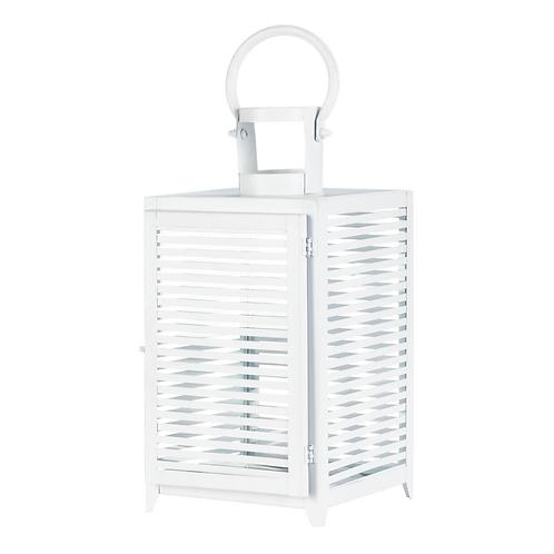 Large White Horizon Lantern
