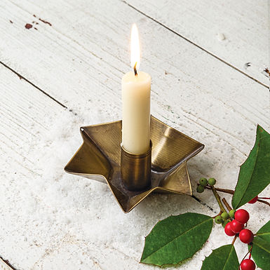 Antique Brass Candle Holder - Box of 4