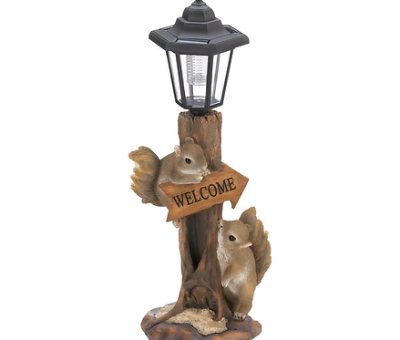 Friendly Squirrels Solar Lamp