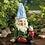 Thumbnail: Cheery Gnome Solar Garden Statue