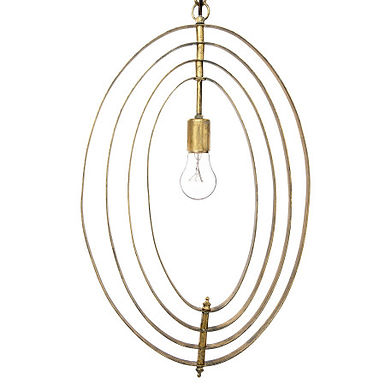 """25.25""""H Multi-Size Metal Circle Pendant Light with 6' Cord (Hardwire Only)"""