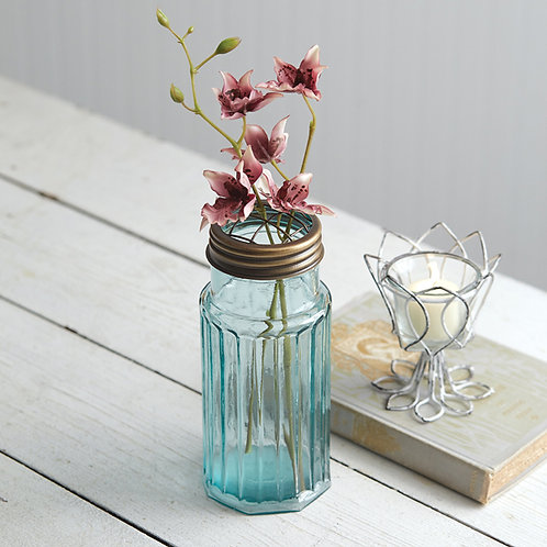 Flower Frog with Recycled Glass Jar
