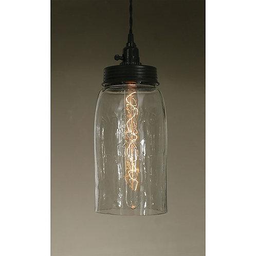 Big Mason Jar Pendant Lamp - Clear Glass