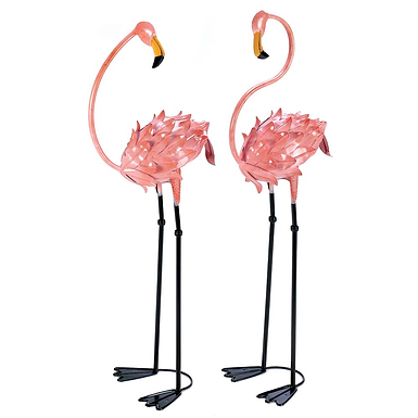 Flamboyant Flamingo Garden Sculptures
