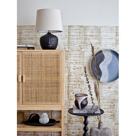 19.5 in. Terra-cotta Table Lamp with Natural Linen Shade