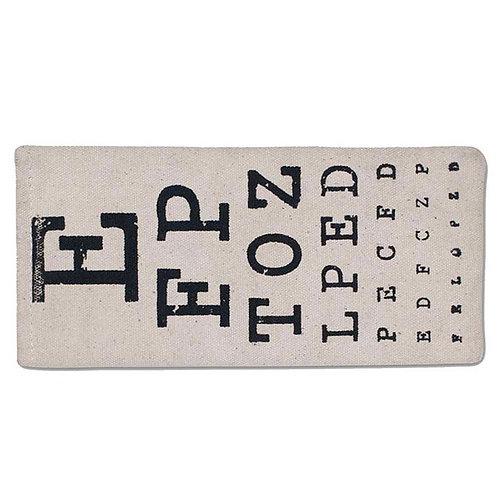 Eye Chart Eye Eyeglass Case