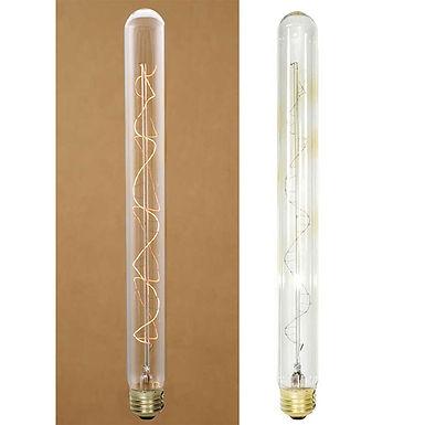 "40 Watt 10-1/2"" Vintage Style Stick Light Bulb With Spiral Filament"