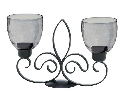 Fleur De Lis Duo Candle Stand
