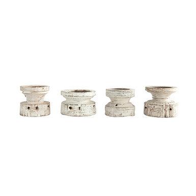 Found Wood Pillar Candleholder (Each one will vary)