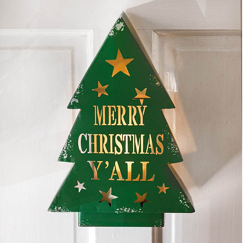 Merry Christmas Y'all Luminary