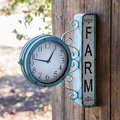 Farm Station Clock