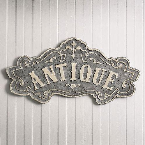 Antique Metal Sign