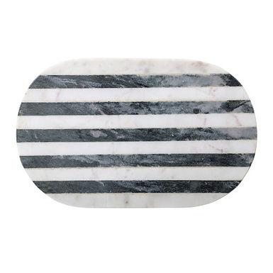 Black & White Striped Marble Cutting Board