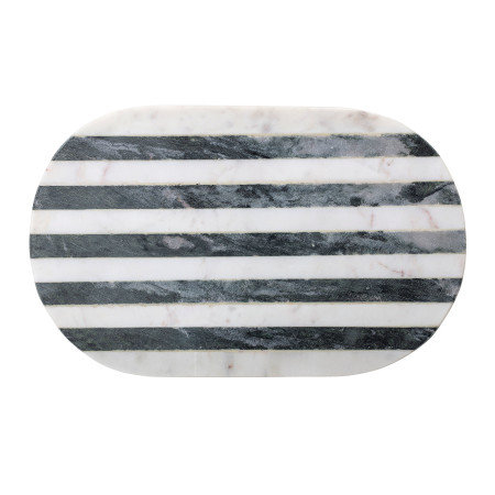 Black & White Striped Marble Cutting Board