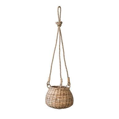 Handwoven Rattan Hanging Basket