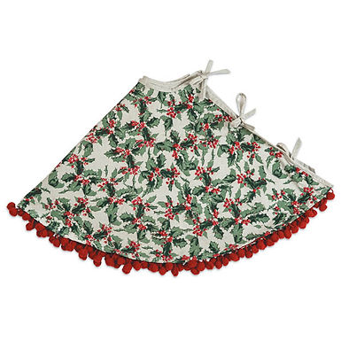 Holly and Berries Christmas Tree Skirt