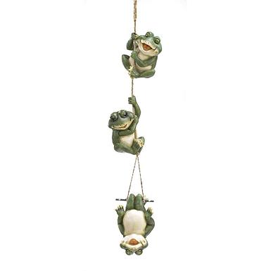 Frolicking Frogs Hanging Decor