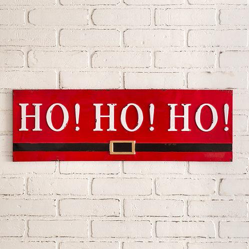 Ho! Ho! Ho! Metal Wall Sign