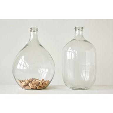 Clear Decorative Glass Bottle