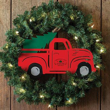 Christmas Truck Metal Wall Decor