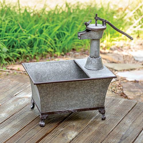 Galvanized Water Pump Planter