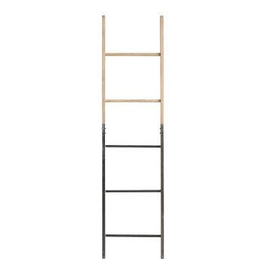 "64""H Decorative Half Metal/Half Fir Wood Ladder"