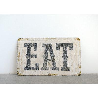 """EAT"" Metal Wall Decor"