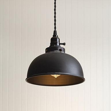 Dome Pendant Light - Black