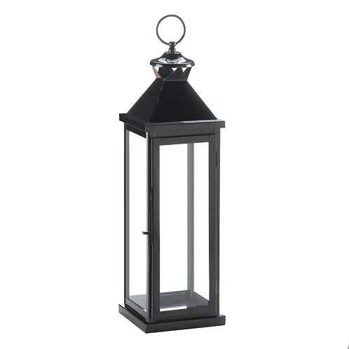 Large Glossy Black Lantern