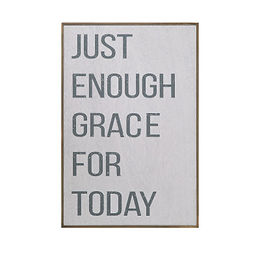"""Grace for Today"" Pine Wood Wall Decor"